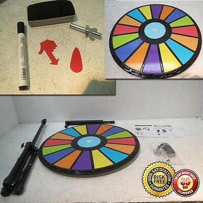 "New Upgrad Editable 24""Color Prize Wheel Fortune Spin Game Carnival Floor Stand"