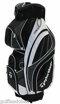 TAYLOR MADE Corza Cartbag / Golfbag 2015 - Black/White/Silver - NEU - UVP 199 €