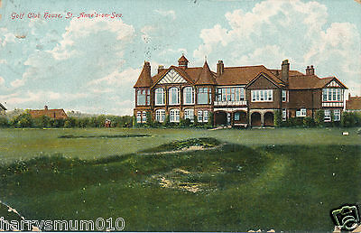 Postcard Golf club St Anne's on sea 1907 (3)