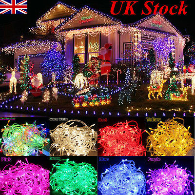 100/200/300/500 LED Fairy Lights Indoor/Outdoor String Lighting Xmas Christmas