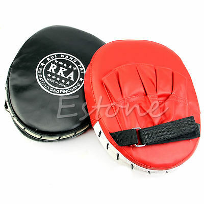 Boxing Focus Target Punch Pad Mitt MMA Karate Combat Thai Kick Training Glove