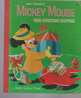 Mickey Mouse Goes Christmas Shopping Little Golden Book