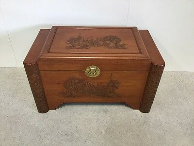 Antique Design Camphorwood Blanket Box Oriental Design Sold Wood Super Quality