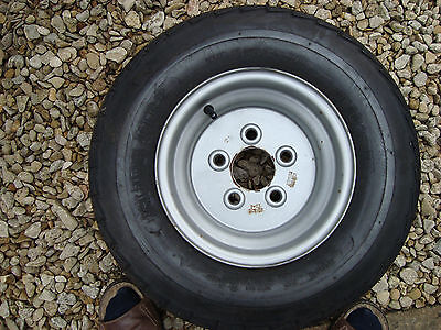 TRAILER WHEELS AND TYRES x4       5 X 100  20.5 X 8 X 10 TYRE. NEW UNUSED