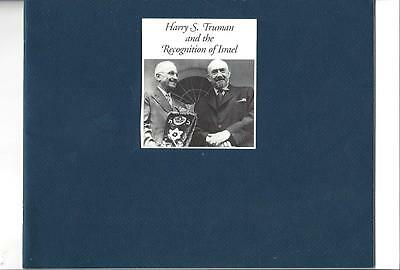 HARRY S.TRUMAN And The Recognition Of Israel Booklet, History, Documents, Photos