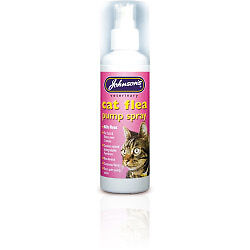 Johnsons Vet Cat Flea Pump Spray 100ml + Tape Measure