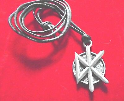 Dead Kennedys - Orig. Vintage Cord Necklace Jewelry / New cond. 1 1/8 x 1 3/8""