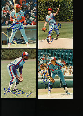 "BILL LEE Autographed Signed 3 1/2"" X 5"" EXPOS Photo w/COA"