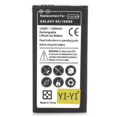 High Capacity New Replacement 4200mAh Battery for Samsung Galaxy S5 Phone