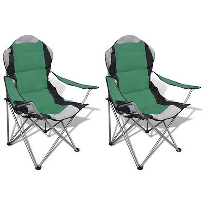 New 2pc Portable Fishing Chair Outdoor Camping Seat Folding Stool Hiking Green