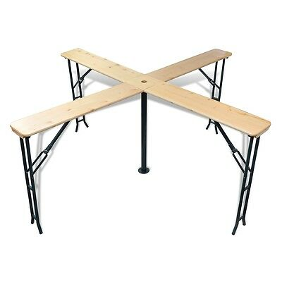 Outdoor Picnic Beer Table 245cm Wood Dining Coffee Foldable Garden Furniture