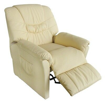 Massage Chair Leather Recliner Electric Remote Control Stretching Cream Office