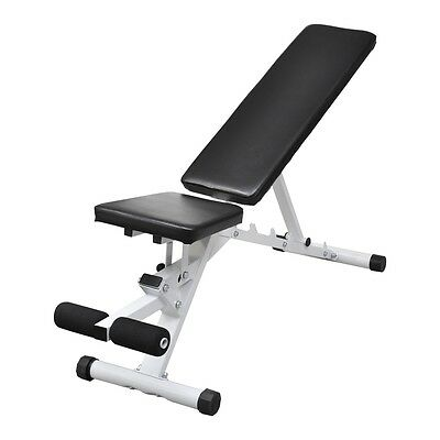 New Adjustable Weight Bench Flat Incline Decline Home Gym Exercise Fitness Situp