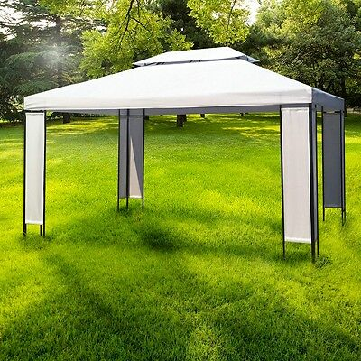 Outdoor 4x3M Canopy Gazebo Wedding Tent Party Marquee Awning Event Pop Up White