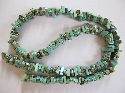 "Green blue turquoise magnesite chip beads 16"" square cut mint green"