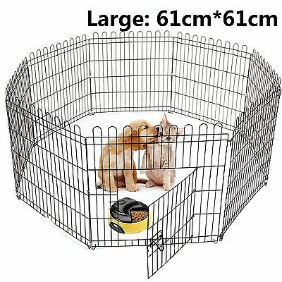Pet Play Pen Puppy Dog Cat Rabbit Pig Guinea Playpen Run Cage Fence Enclosures