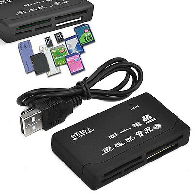 All in One External USB Memory Card Reader SD SDHC Micro M2 MMC XD CF MS LSRG