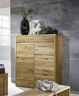 w scheschrank eiche buche massiv ge lt highboard vollholz schlafzimmerschrank eur. Black Bedroom Furniture Sets. Home Design Ideas