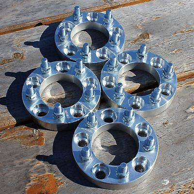 """4 pcs   1""""   5x4.5 to 5 x 4.5   Wheel Spacers   Adapters   5Lug   1/2"""" x 20"""