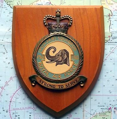 Old RAF Royal Air Force 130 Punjab India Squadron / Station Crest Shield Plaque