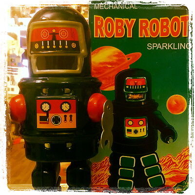 ROBY ROBOT MS 429 mécanique futur toys space ship astronaute ROBBY