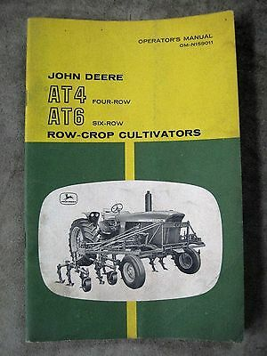 John Deere AT4 AT6 4 6 Row Crop Cultivator Operators manual