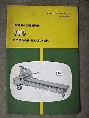John Deere 60C Forage Blower Operators manual