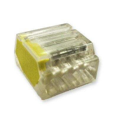 Lyvia 4 Pole Pushwire Connector Transparent With Yellow Side + Tape Measure