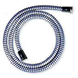 Croydex Reinforced PVC Shower Hose 1.5m Chrome + Tape Measure