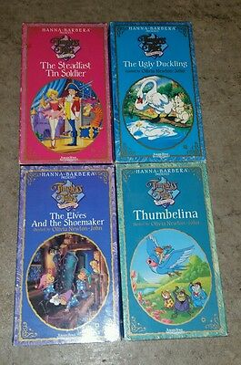 Hanna-Barbera Timeless Tales VHS Lot OF 4 MOVIES UGLY DUCKLING Thumbellina ELVES