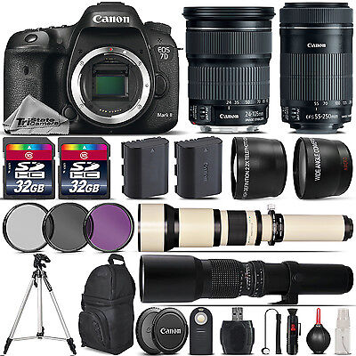 Canon EOS 7D Mark II DSLR Camera + 24-105mm IS STM + 55-250mm STM - 64GB Kit