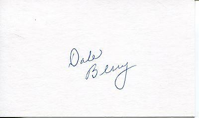 Dale Berry Country Music Singer / Actor Signed Card Autograph