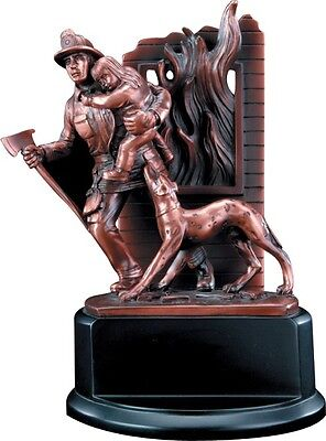 Personalized Fire Fighter Statue Simulated Bronze Engraved Free Great Award Gift