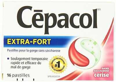 Cepacol Lozenges Max Sugar Free Cherry, 16 Count