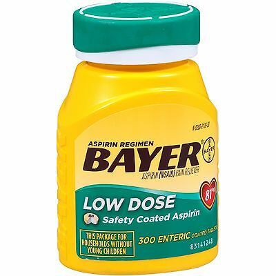 Bayer Aspirin Low Dose Regimen Tablet 300ct
