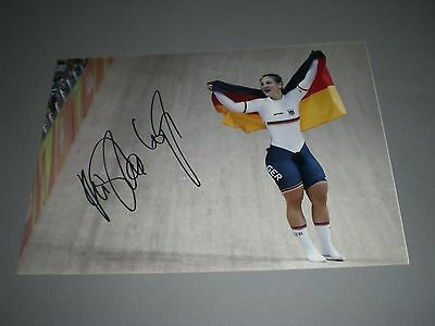 Kristina Vogel Bahnrad Olympia Gold Rio 16 signed signiert Autogramm 20x28 Foto
