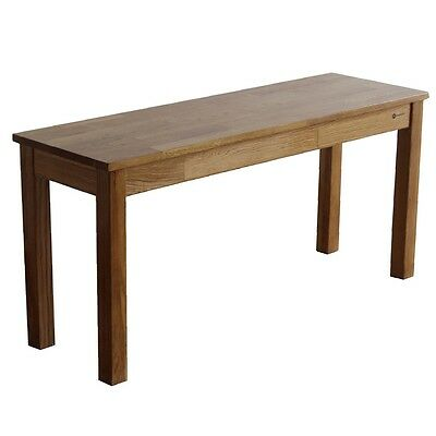 Homegear Solid Oak Wooden Dining Bench / Seat
