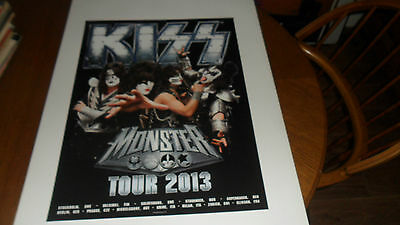 Kiss.monster 2013 Tour Promo Poster Mint
