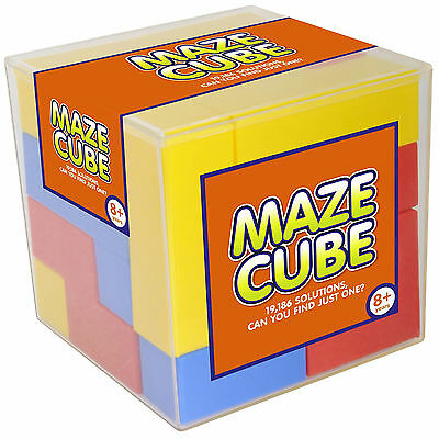 Maze Cube 13 Piece 3D Puzzle 19186 Solutions Mind Game Kids Gift Educational Toy