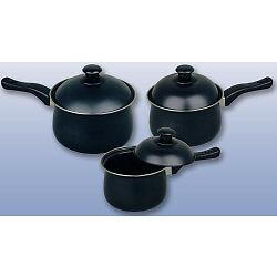 Pendeford Value Plus Collection Non Stick Sauce Pan Set 3 Piece + Tape Measure