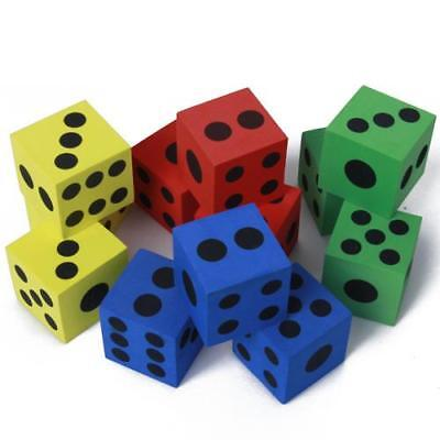 Random 12pcs 6 Sided Foam Dices Kids Board Game Party Favor Educational Toys