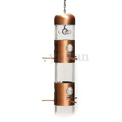 Metal Wild Bird Seed Feeder Birdfeeder House Cage Outdoor Garden Tree Hanging