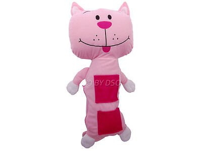 KIT CAT Kids Seat belt Cuddly Toy Pillow with Pockets GREAT GIFT