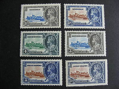 1935 Silver Jubilee 6 different MNH no sets, various countries, check them out!