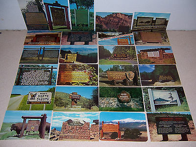 1950s-70s WOODEN PARK & STREET SIGNS UNUSED VTG PHOTO POSTCARD LOT of 20 DIFF