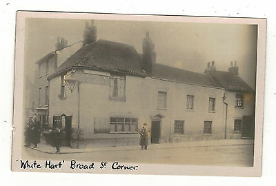 White Hart Pub.broad Street,corner .   Reading...old Real .photo  Postcard