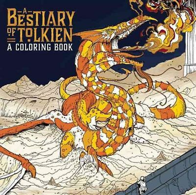 A Bestiary of Tolkien Coloring by Paperback Book (English)