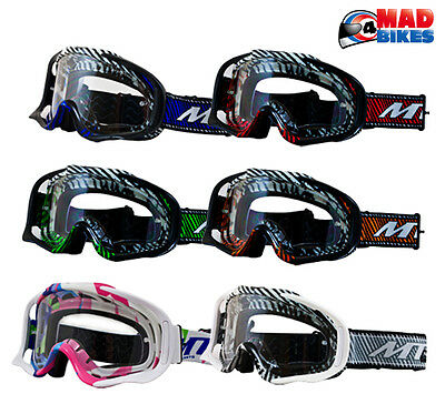 MT MX Pro III Goggles For Motocross, Enduro, MX, BMX, MTB, With Tear Off Posts