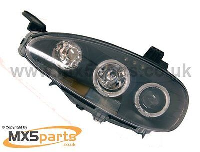Black Angel Eye Headlamp Set Mazda Mx5 Mk2.5 Facelift 2001 2004 only