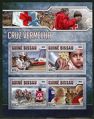 Guinea Bissau  2016 Red Cross Sheet Mint Never Hinged